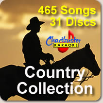 Country Music Old and New 465 Country karaoke Songs on 31 CDGs - All