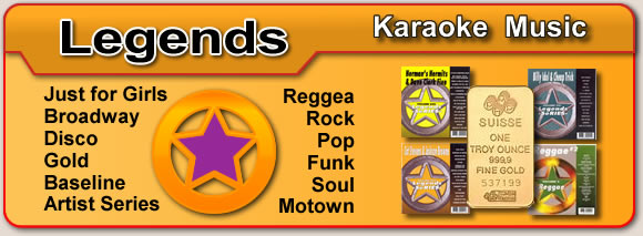 LEGENDS Karaoke Cds