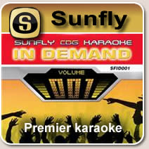 Sunfly Karaoke cds - Sunfly Kareoke songs in 10 series